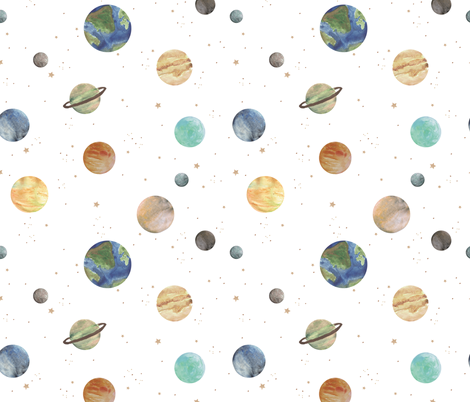 Solar System fabric by shelbyallison on Spoonflower - custom fabric