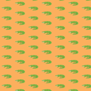 Crocodile Colin on Orange