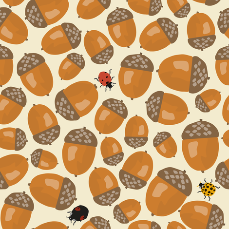 Amongst_the_Acorns fabric by sarahparr on Spoonflower - custom fabric