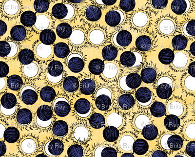 Solar Eclipse Navy and Yellow