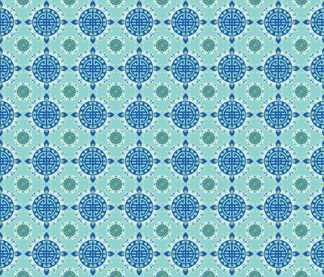 palace grounds jade dynasty fabric by margiecampbellsamuels on Spoonflower - custom fabric