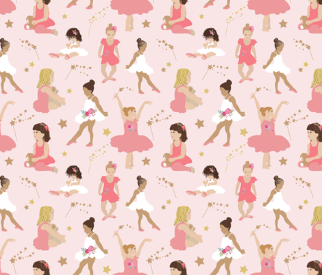 Ballet Toddlers fabric by michellegracedesign on Spoonflower - custom fabric