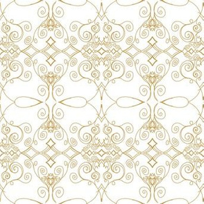 Project 370 | Gold Filigree on White