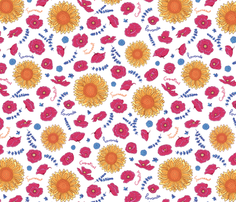 Provence Field 15 inches fabric by thelazygiraffe on Spoonflower - custom fabric