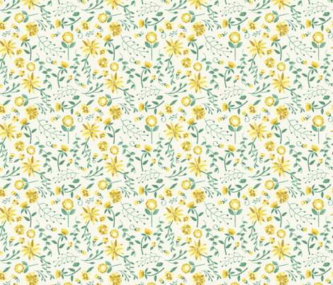 southern belles buttercup favorite place fabric by margiecampbellsamuels on Spoonflower - custom fabric
