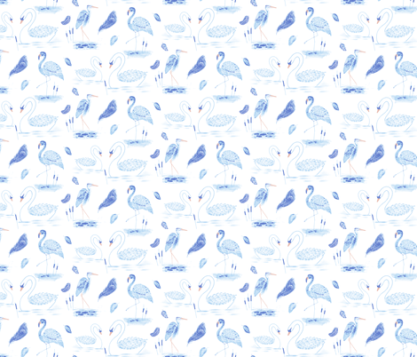 Vintage Birds fabric by michellegracedesign on Spoonflower - custom fabric