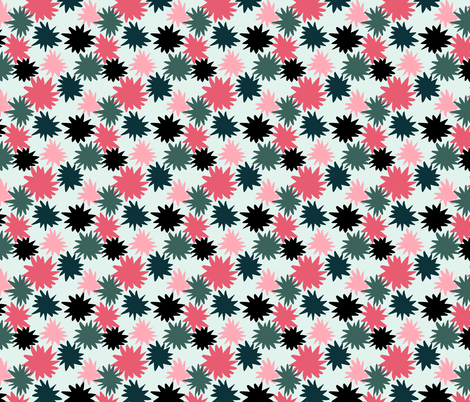 Star Bursts version 1 fabric by driessa on Spoonflower - custom fabric