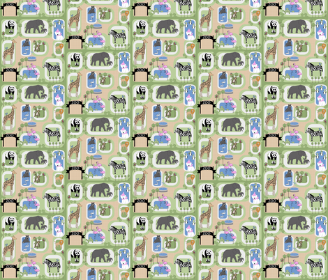 Day at the Zoo fabric by twix on Spoonflower - custom fabric