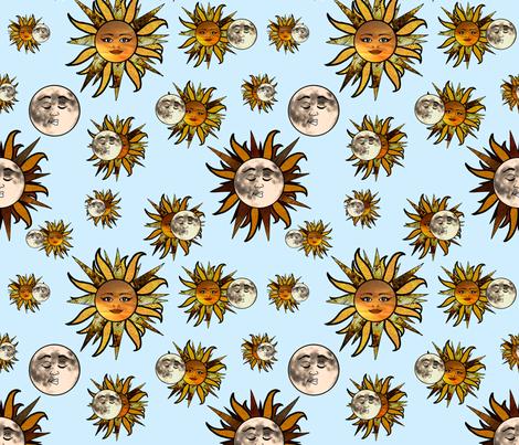 Solar Sunflower Eclipse fabric by irishvikingdesigns on Spoonflower - custom fabric