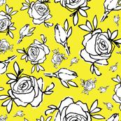 vibrant yellow rose