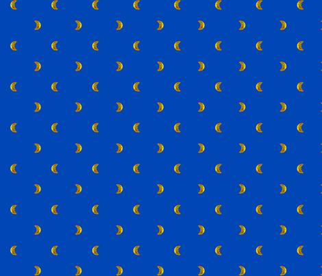 Eclipsing_Sun_on_Blue fabric by lizintn on Spoonflower - custom fabric