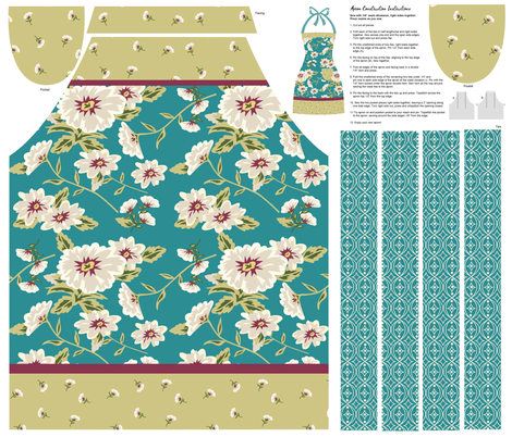 Floral Beauty Cut and Sew Apron fabric by phyllisdobbs on Spoonflower - custom fabric