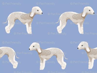 bedlington terrier fabric  dogs pet design - periwinkle