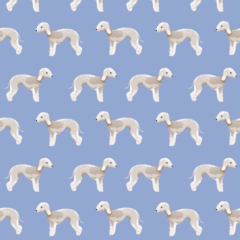bedlington terrier fabric  dogs pet design - periwinkle fabric by petfriendly on Spoonflower - custom fabric