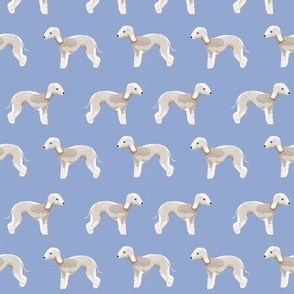 bedlington terrier fabric  dogs pet design - periwinkle