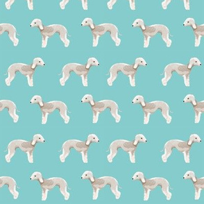 bedlington terrier fabric  dogs pet design - light blue