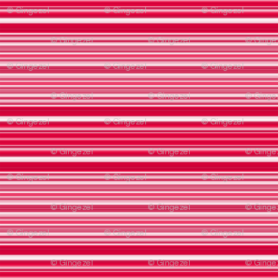 Red, Pink, and White Horizontal Stripes