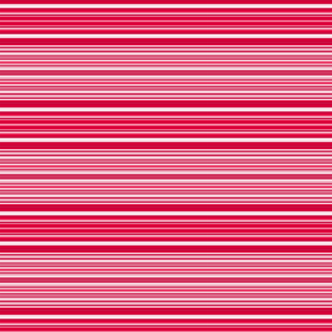 Red, Pink, and White Horizontal Stripes fabric by gingezel on Spoonflower - custom fabric