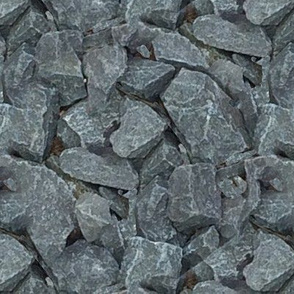 large dark rocks