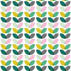 Geometric floral spring blooms scandi color pattern