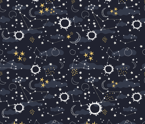 solar_eclipse fabric by kostolom3000 on Spoonflower - custom fabric
