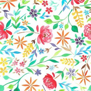 Bright floral watercolour