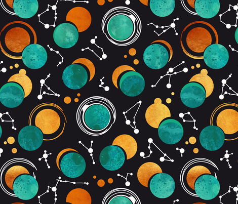 Great Total Solar Eclipse fabric by selmacardoso on Spoonflower - custom fabric