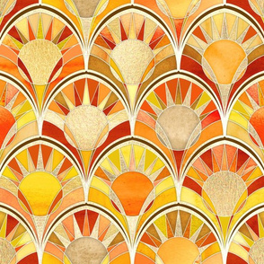 Art Deco Sunny Solar Scales