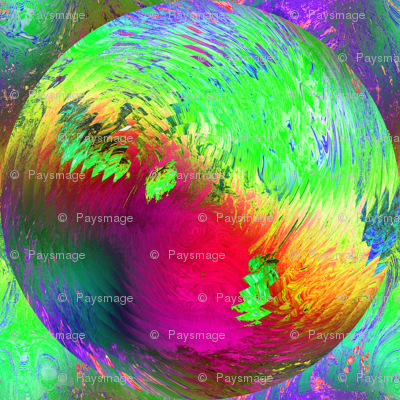 PLANET SPHERE VIBES PSYCHEDELIC SOLAR ECLIPSE