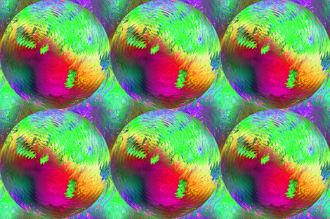 PLANET SPHERE VIBES PSYCHEDELIC SOLAR ECLIPSE  fabric by paysmage on Spoonflower - custom fabric