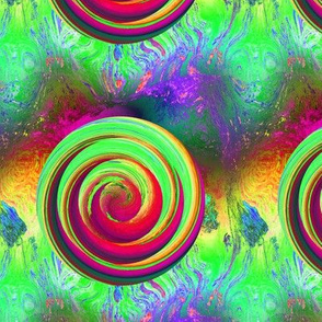 LOLLIPOP PLANET PSYCHEDELIC SOLAR ECLIPSE