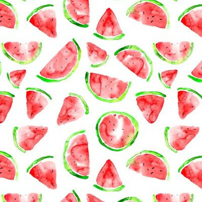 Watermelons in watercolor