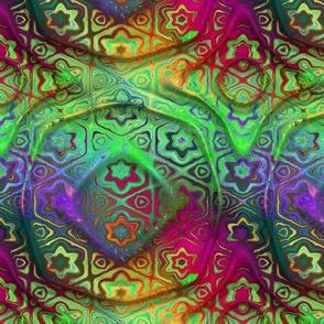 """6"""" bohemian CARAVAN mandala RAINBOW bright multicolor PSMGE"""