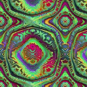 """6"""" bohemian CARAVAN mandala 2 RAINBOW bright multicolor PSMGE"""