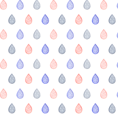 Rose quartz, lilac grey & serenity blue raindrops