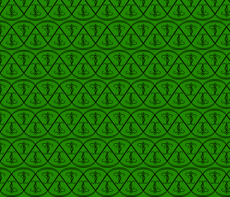 black_on_green_scallops fabric by gothiccolour on Spoonflower - custom fabric