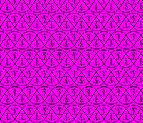 black_on_magenta_scallops fabric by gothiccolour on Spoonflower - custom fabric