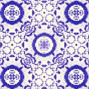 Fractal Tribal Cross-Stitch 1