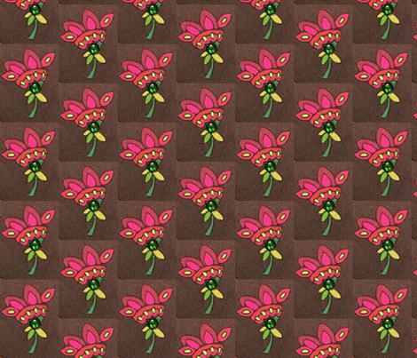 Peppy pink flower fabric by kristinelee on Spoonflower - custom fabric