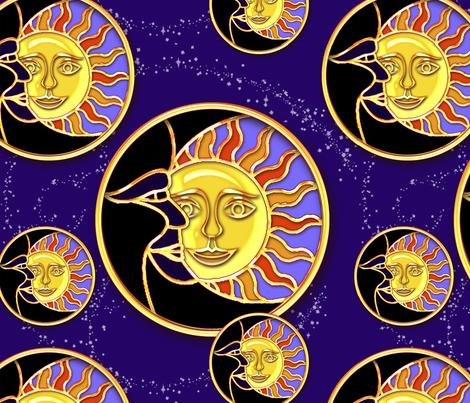 moon_sun_pattern_2 fabric by doodledoer-teresakelly on Spoonflower - custom fabric