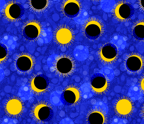 Solar Eclipse Polka Dots fabric by elramsay on Spoonflower - custom fabric