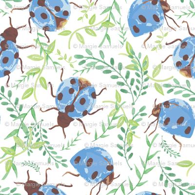 wild garden rain ladybugs