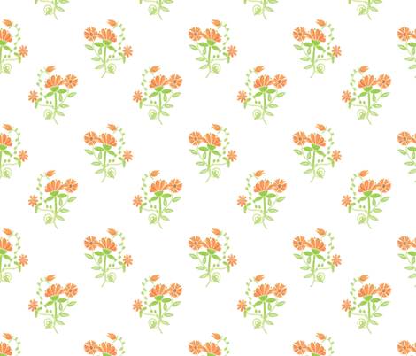 wild garden earth bouquet fabric by margiecampbellsamuels on Spoonflower - custom fabric