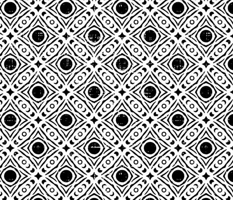 Tribal Eclipse fabric by juniperr on Spoonflower - custom fabric