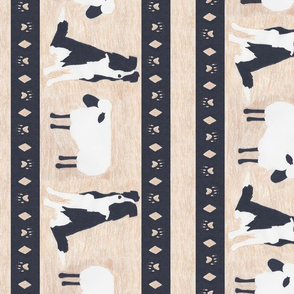 Primitive Border Collie and sheep border - extra wide length