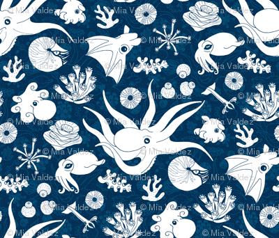 Cephalopods: Bg Blue