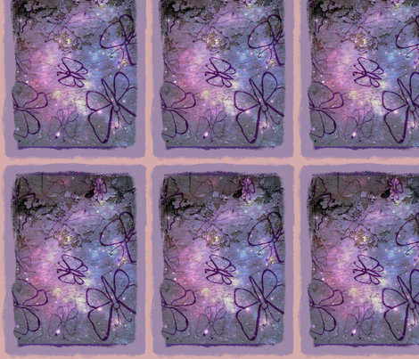 folkart_purple_line_butterflys-ed-ed fabric by vickiejofranks on Spoonflower - custom fabric