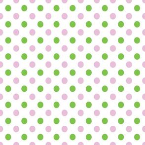 Pink and Green Polka Dots