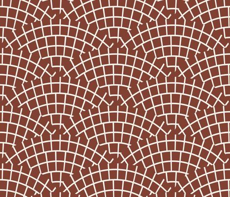 MOSAIC_TILE_MARSALA_DARK fabric by holli_zollinger on Spoonflower - custom fabric
