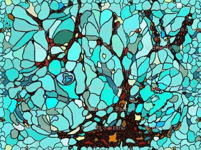 Stained Glass in Aqua Blues